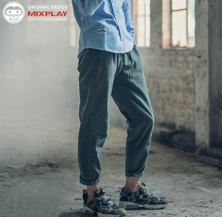 Прямые мужские брюки для отдыха, свободные шаровары на осень и весну