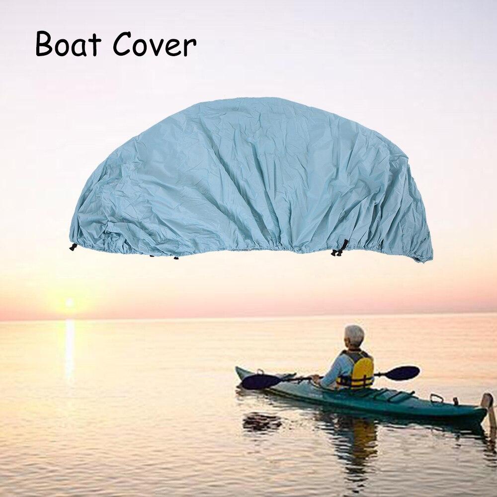 11-22 pieds couverture de bateau hors-bord v-coque couverture de bateau en taffetas de Polyester résistant à l'eau UV avec sac de rangement accessoires de Kayak de bateau