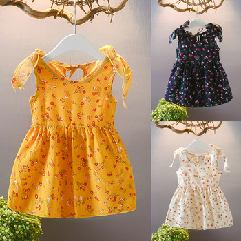 Floral Print Baby Girl Dress Cute Toddler Flower Princess Sleeveless Baby Dress Sundress Summer Baby Girl Clothes Party Dress beautiful carnation flower vest dress runway vintage key dress vestidos infantis baby girl clothes 8002