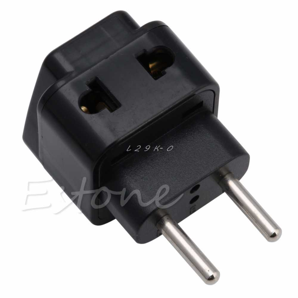 1 PC Universal UK/US/EU/AU to EU EUROPE Plug Travel Power Adapter Splitter converter