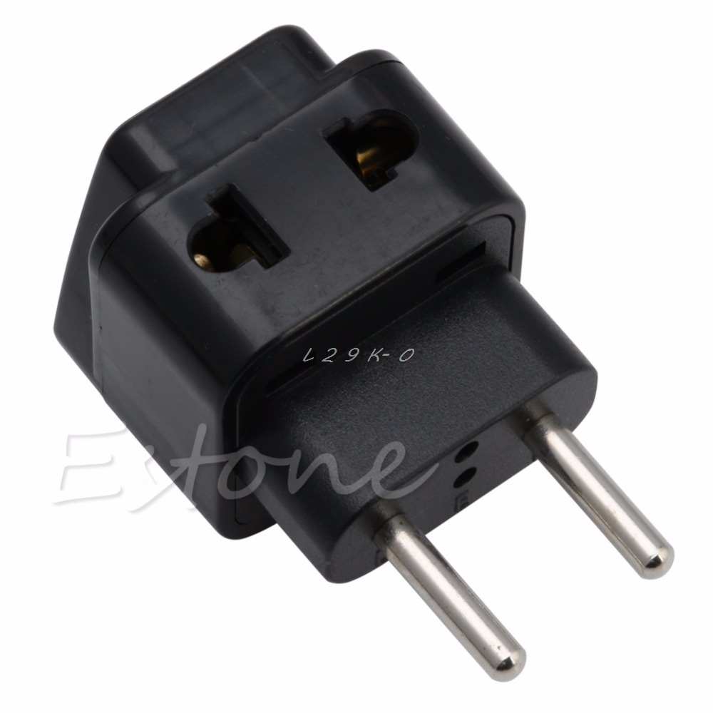 1 PC Universal UK/US/EU/AU To EU EUROPE Plug Travel Power Adapter Splitter Converter
