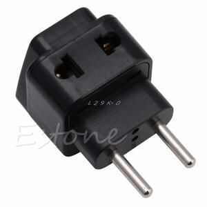 1 PC Universal UK/US/EU/AU to EU EUROPE Plug Travel Power Adapter Splitter converter(China)