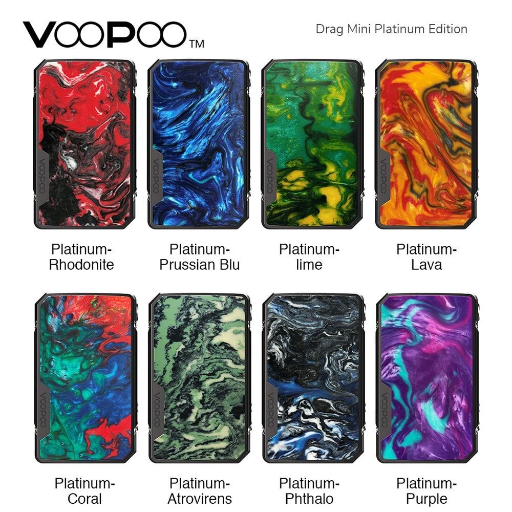 Nouveau Original VOOPOO glisser Mini platine édition boîte MOD avec 4400mAh batterie longue durée vapotage Max 117W vs Voopoo glisser 2/GEN Mod