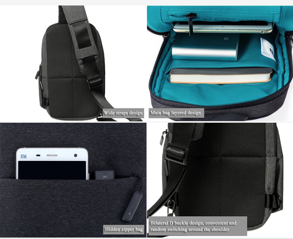 393d522a4 ... XIAOMI MI Backpack Urban Leisure Chest Pack Bag For Men Women Small  Size Shoulder Type Unisex ...