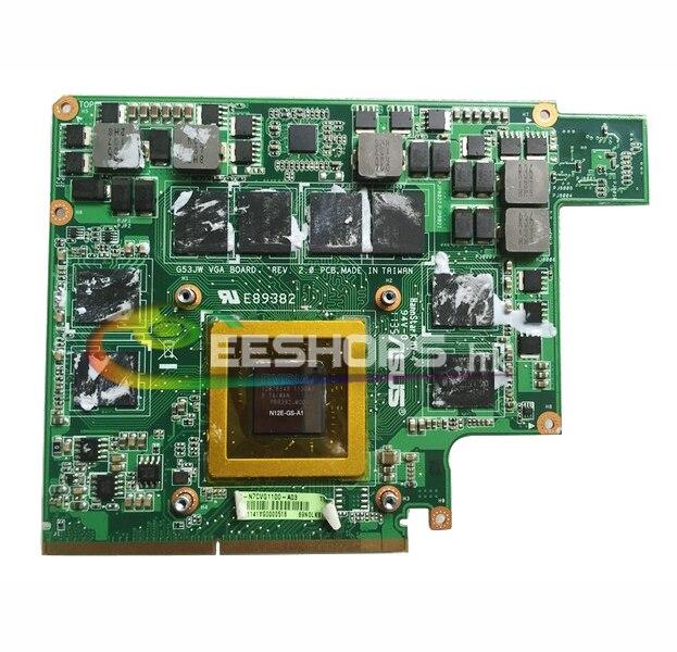 nVidia GeForce GTX 560M GTX460M GDDR5 2GB Graphics Video Card for ASUS ROG G Series G53SW G53SX G53JW G73JW G73SW Notebook PC