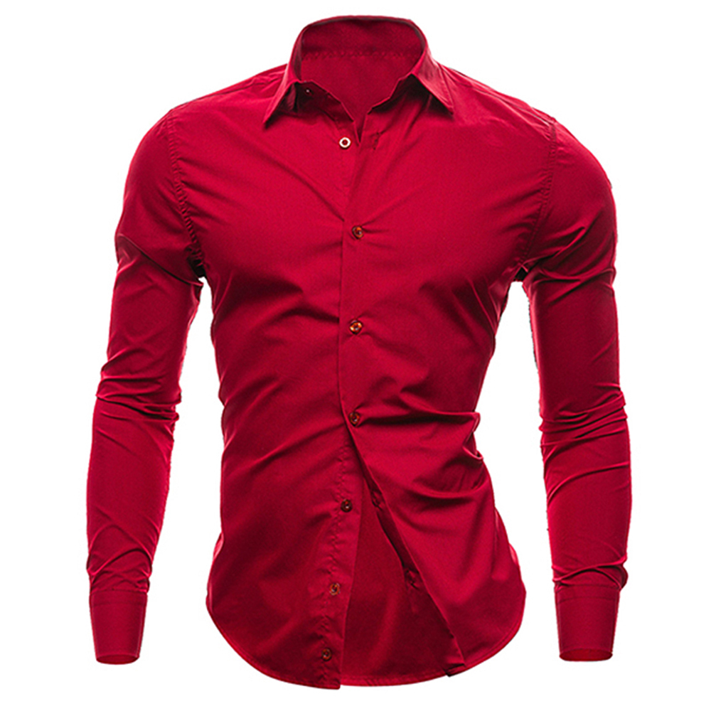 Hot Sales New Mens Shirts Casual Slim Fit Stylish Mens Dress ...
