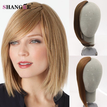 One Piece High Quality fake bangs Natural Hair Bangs Fake Fringe Natural Synthetic Clip in Hair Extensions