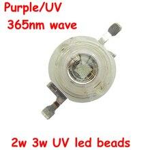 Free Shipping 1pcs High Power 2W 3W 3.4-3.6V 600-700mA UV Ultraviolet Purple 365nm LED Beads Light Part for Spotlight Flashlight цена