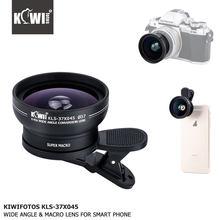 KIWI 0.45 x obiektyw adaptacyjny, makro, szerokokątny 37mm 52mm 58mm do aparatu Canon Nikon Sony DSLR uniwersalny inteligentny telefon