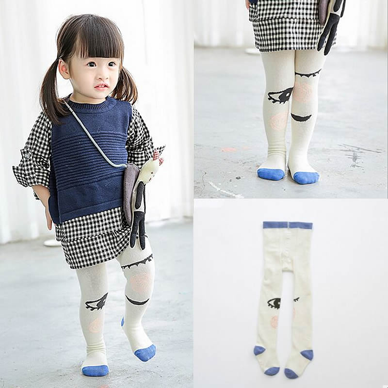 NEW Kids Warm Pantyhose Cartoon Eyes Baby Girl Cotton Fashion Tights Stockings
