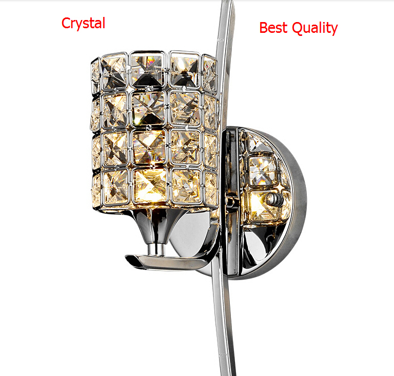 ФОТО Christmas Modern Wall Lamp K9 Crystal Sconce G9 Hotel Bedroom Stairs Wall Light Home Indoor Decoration Fixtures Bathroom Light
