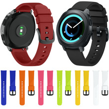 Large/Small size 20mm Width for Samsung Gear Sport Strap Metal Buckle Band Silicone Watchband for Samsung Gear S2 Classic Strap 20mm width silicone strap for samsung galaxy watch 42mm band for samsung gear sport gear s2 classic sm r7320 silicone watchband