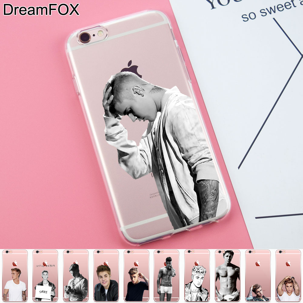 DREAM FOX K314 Justin bieber Soft TPU Silicone Case Cover For Apple iPhone 8 X 7 6 6S Pl ...