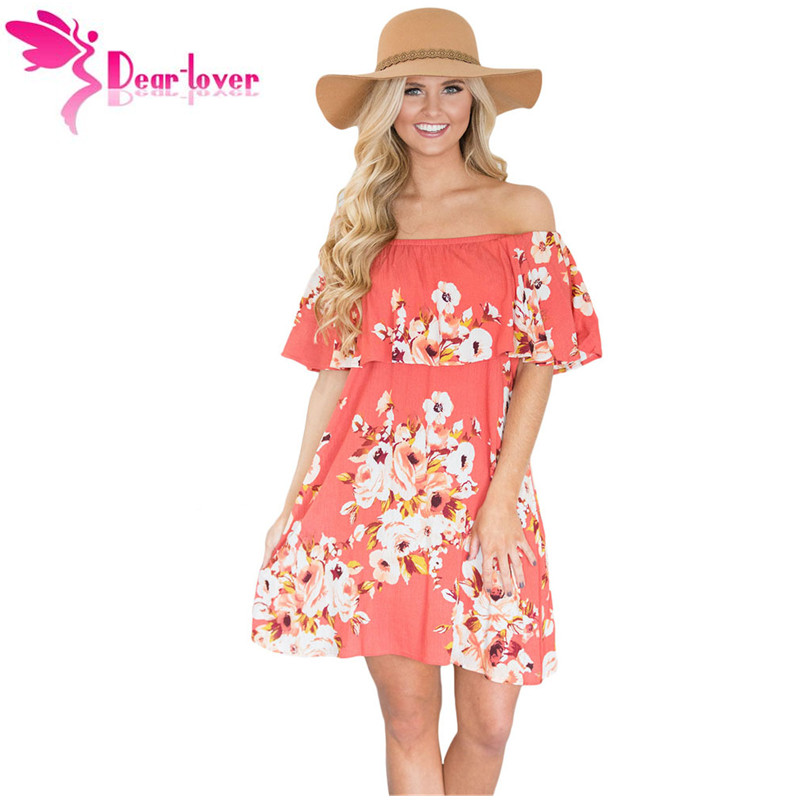 Dear Lover Boho Dresses 2017 Summer Women Beach Orange