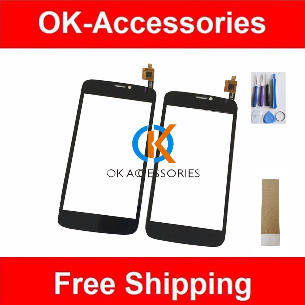 5.0 For Prestigio MultiPhone PAP3502 PAP 3502 DUO Touch Screen Digitizer Black Color 1PC/Lot With Tools.