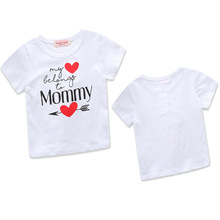 0d456b1e Boys Valentine Shirt Girls Valentine's Day Print White T-shirt New 2019  Spring Letter Shorts Toddler Baby Causal Clothes