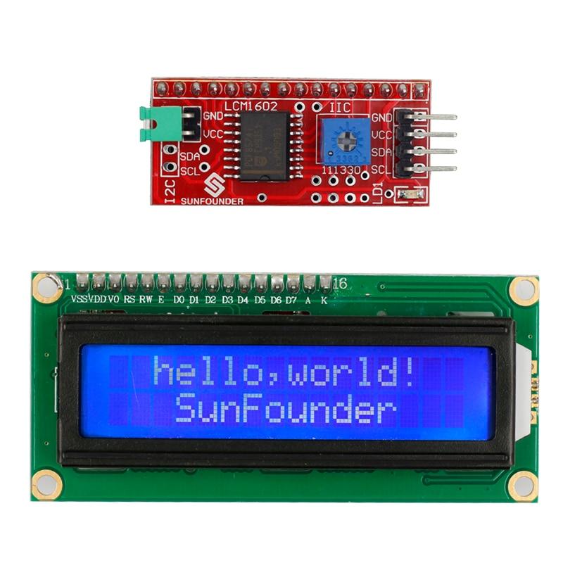 SunFounder IIC/I2C/TWI 1602 Серийный ЖК-Модуль Дисплей для Arduino Uno R3 Мега 2560 DIY Электронные