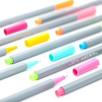 24 36 60 100 Colors High Quality Needle Gel Pen 0 4mm Color Ink Line Drawing
