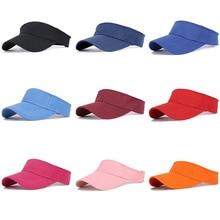 Wholesale 10pcs/lot High Quality Outdoor Sport Headband Sports Visor Hat Ladies Cap Mens Golf Sun Hats for Men Women Soild Color