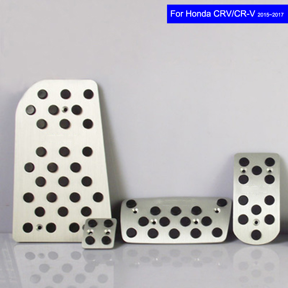 Non-Slip Stainless Rubber Car Pedal Fuel Brake Foot Rest Pad for Honda CRV CR-V 2012 2013 2014 2015 2016 2017 Pedals Auto Pads шуруповерты bort дрель шуруповерт аккумуляторная bort bab 18ux2 dk