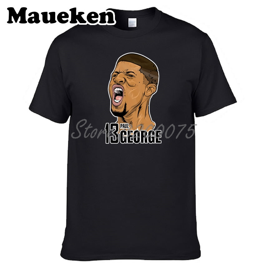 best sneakers 011e4 38915 US $18.88 |Men T shirt 13 Paul George PG 13 Logo Oklahoma City Tees Short  Sleeve T SHIRT Men's Pickled Comic Howl W1108016-in T-Shirts from Men's ...