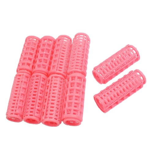 Fiona Store188 FS Hot New Hot Sale 10 Pcs Lady Pink Plastic Magic Circle Hair Styling Roller Curler