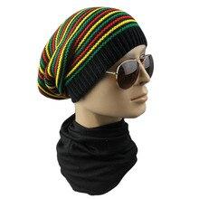 Aggiungi alla Lista dei Desideri. Inverno Hip Hop Bob Giamaicana berretto Rasta  Reggae Cappello Multi-color Striped Beanie Cappelli Per 244df5e48843