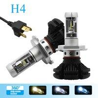 2PCS H4 Led Bulbs All In One Auto Car Headlight High Low Beam 12V 24V Fog