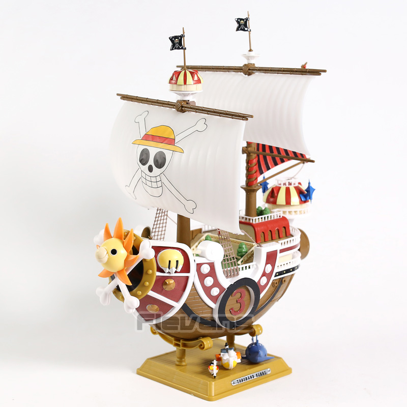 One Piece The Straw Hat Pirates Thousand Sunny Ship Model Collectible PVC Figure ToyOne Piece The Straw Hat Pirates Thousand Sunny Ship Model Collectible PVC Figure Toy