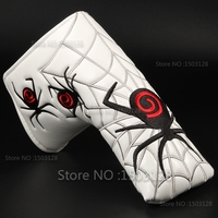Golf New Black Red Spider White Golf Putter Cover Headcover Velcro Closure For Blade Golf Putter