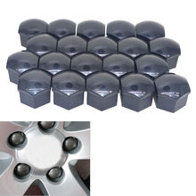 BBQ@FUKA 20x 17mm Car Wheel Lock Bolt Wheel Bolt Cap Nut Screw Cover Trim W/Puller Fit For Ford A5/A6/Q3/Q5/A8 VW Universal Car