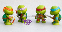 Classics Movie Anime Teenage mutant ninja turtles Figures PVC Action Figures 4pcs/Set Best Collection Toys For Children