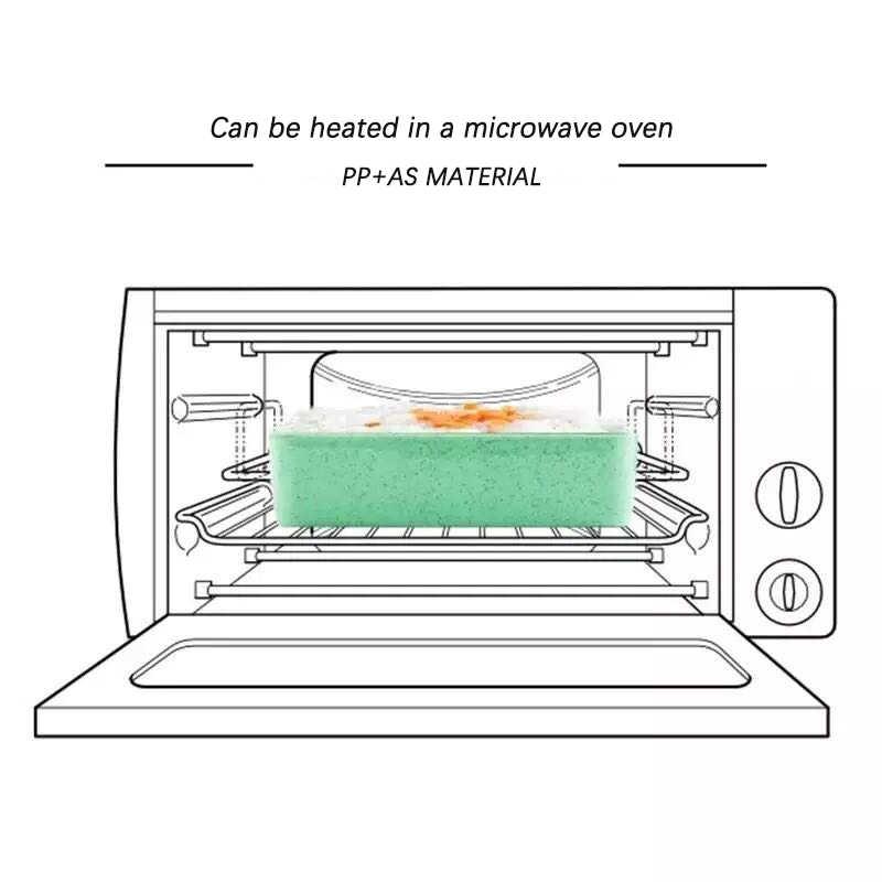 900ml Portátil Material Saudável Almoço Caixa Caixas Bento Microondas Louça 3 Camada de Palha de Trigo De Armazenamento De Alimentos Recipiente Foodbox