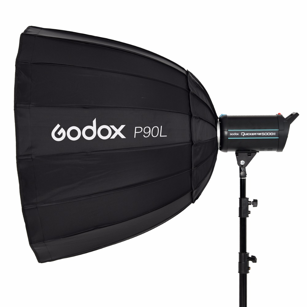 Godox P90L 90CM Portable Deep Parabolic Softbox Bowens Mount Studio Flash Speedlite Reflector Photo Studio Softbox meking photo studio lighting softbox 70cmx100cm 28x40 with bowens mount photo softbox reflector for flash speedlight