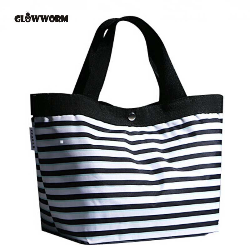 Beach Canvas Bag Color Stripes Printing Handbags Ladies Large Shoulder Bag Totes Bolsa Shopping Bags