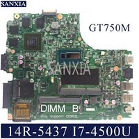 KEFU 12307 2 Laptop motherboard for Dell Inspiron 14R 5437 3437 original mainboard 100%Test I7 4500U GT750M