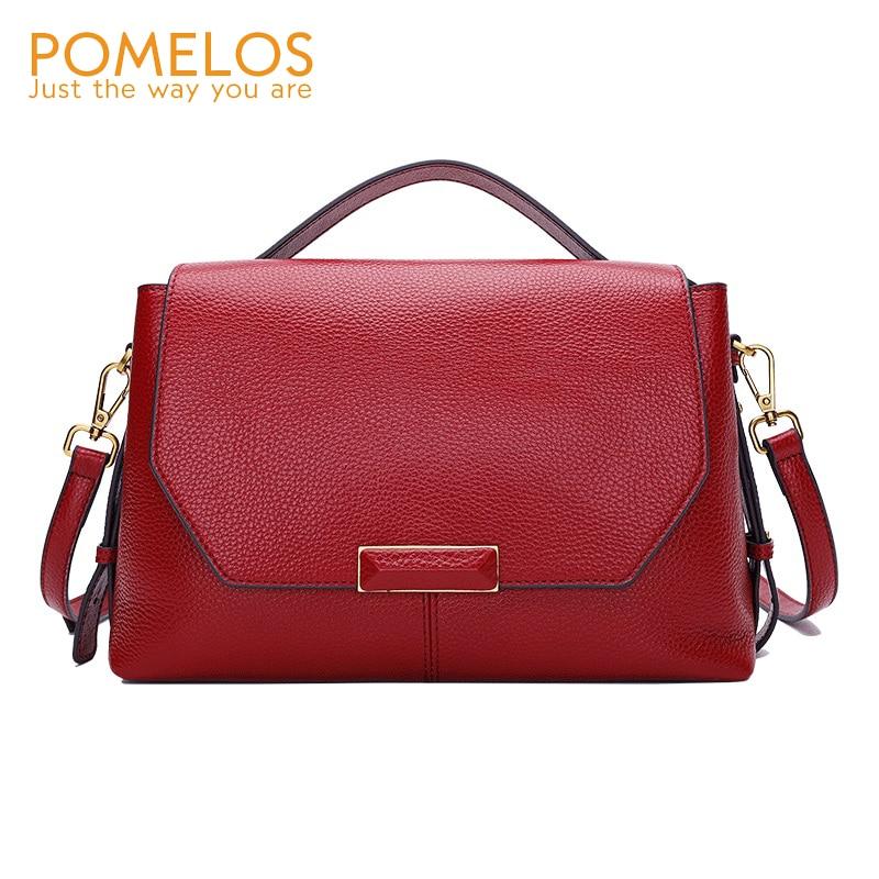 DIENQI 100 Women genuine leather bag handbag brand designers female big shoulder bag ladies cow leather