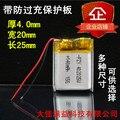 Ling dm880 gravador mp3 smart watch 402025 universal recarregável 3.7 v bateria de polímero de lítio recarregável li-ion celular
