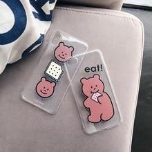INS Korea super fire cute biscuit bear phone case For iphone Xs MAX XR X 6