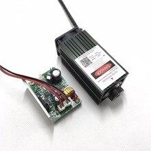5500 mw blau lila laserkopf, 5,5 watt 450nm diy laser maschine teile laserdiode laserröhre lüfter mit TTL, fokus einstellbar