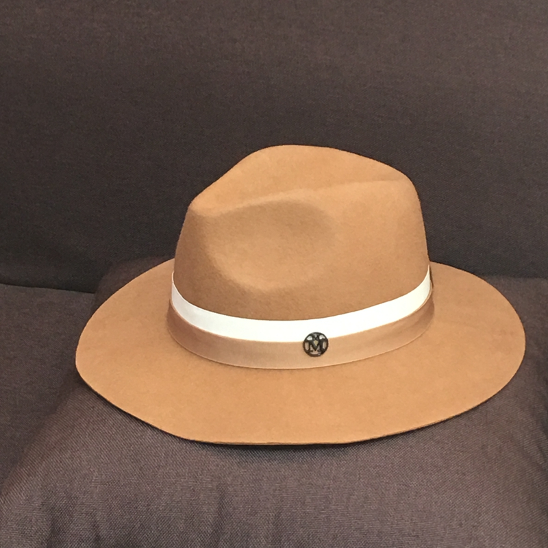 Wool fedoras fashionable casual solid color elegant women's hat jazz hat sunscreen sun-shading vintage fashion
