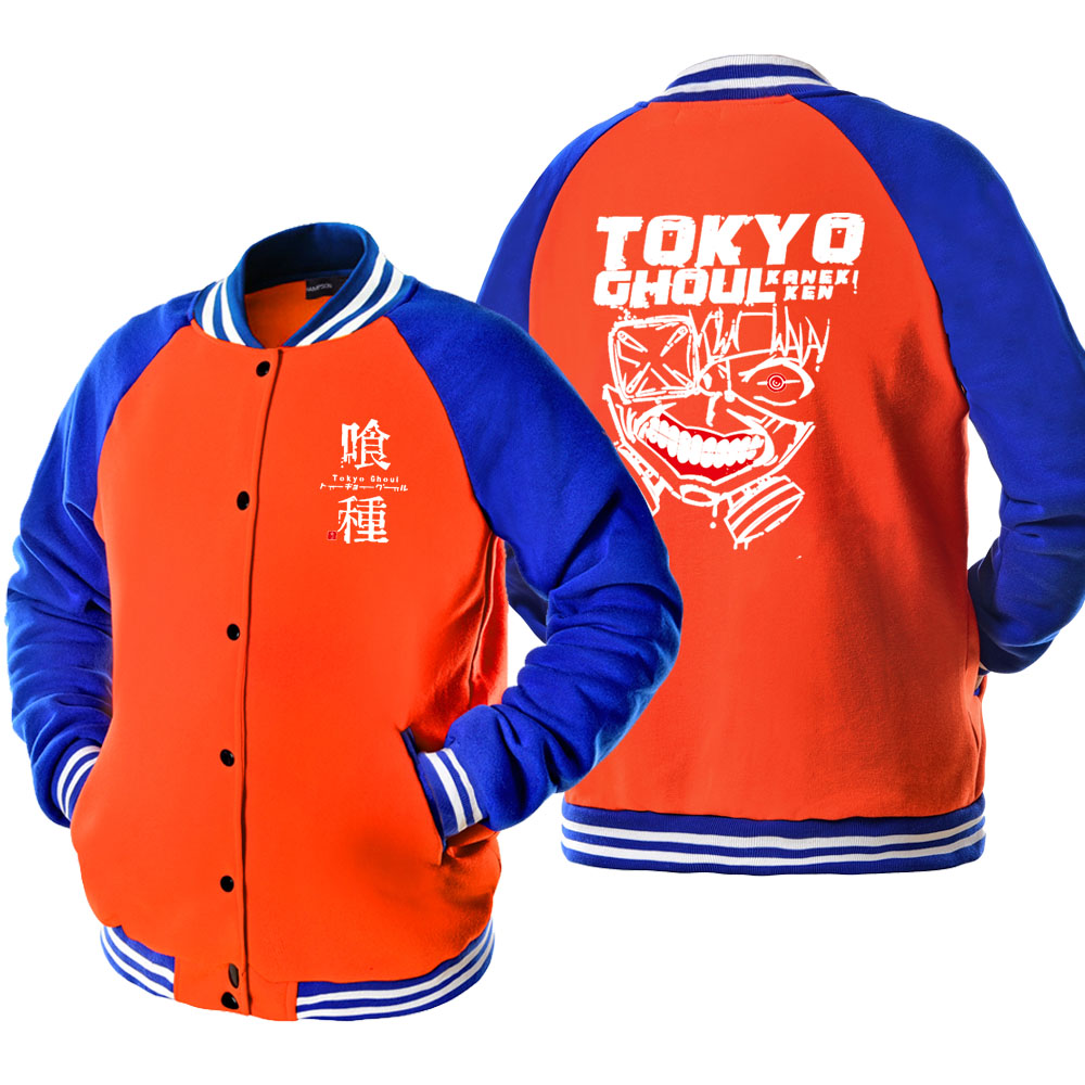 Tokyo Ghoul Kaneki Ken Orange Jacket 2019 New Autumn Outwear Coat For Men Fashion Jackets Japan Anime Cartoon Bomber Jacket