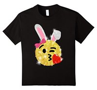 Easter Bunny Emoji Shirt Clothing Tops Hipster Fashion Cool Slim Fit Letter Printed