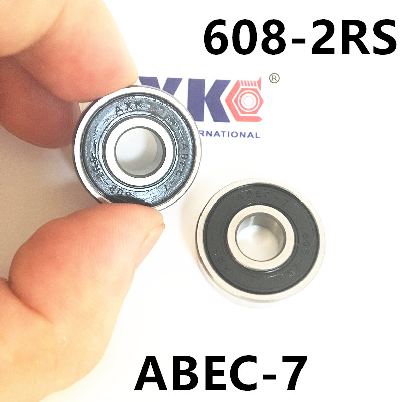 608-2RS 608RS 608 2RS ABEC-7 8mm x 22mm x7mm black double rubber sealing cover deep groove ball bearing 1pc 6217 2rs 6217rs rubber sealed ball bearing 85 x 150 x 28mm