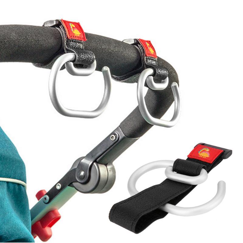 Universal Baby Stroller Hook Cart Shopping Bag Clip Hook Aluminum Baby Car Carriage Pushchair Hook Hanger Hanging Accessories