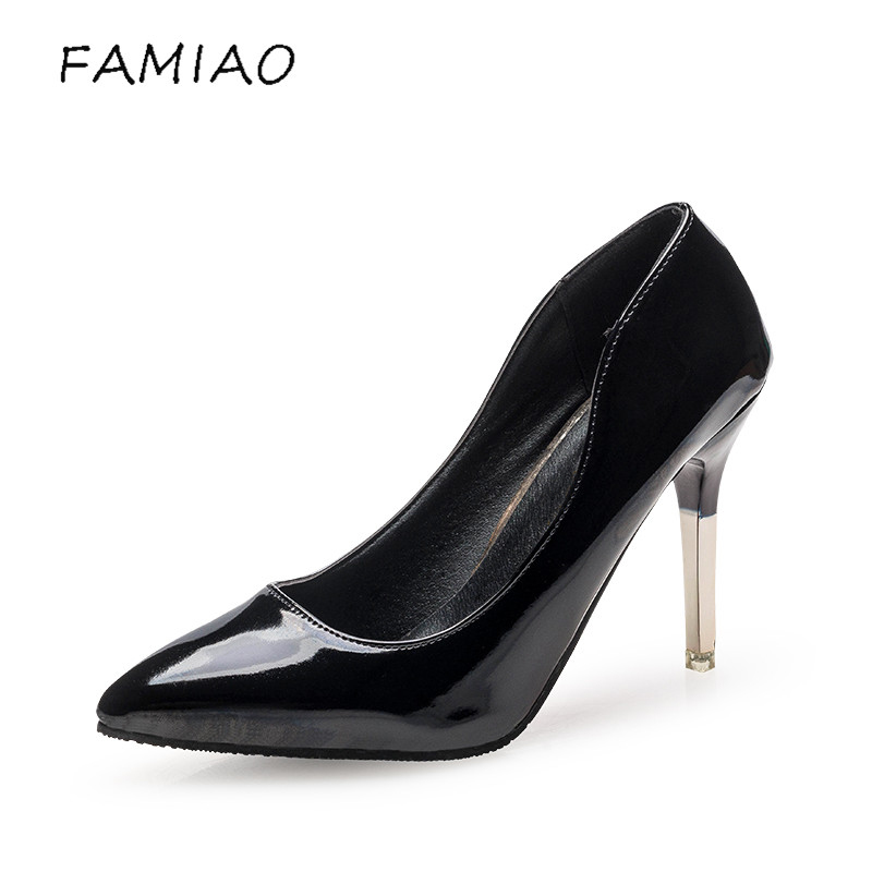 FAMIAO 2017 Pointed Toe High Heel Shoes Woman Brand Designer New Nightclub Party Dress Shoes Lady Fashion Sexy Thin Heels Pumps doratasia embroidery big size 33 43 pointed toe women shoes woman sexy thin high heels brand pumps party nightclub