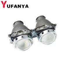 YUFANYA 3.0 Inch H7Q5 Bixenon Hid Projector Lens Metal Holder Fit For H7 Xenon Bulbs Hid Xenon Kit Headlight Car Free Shipping