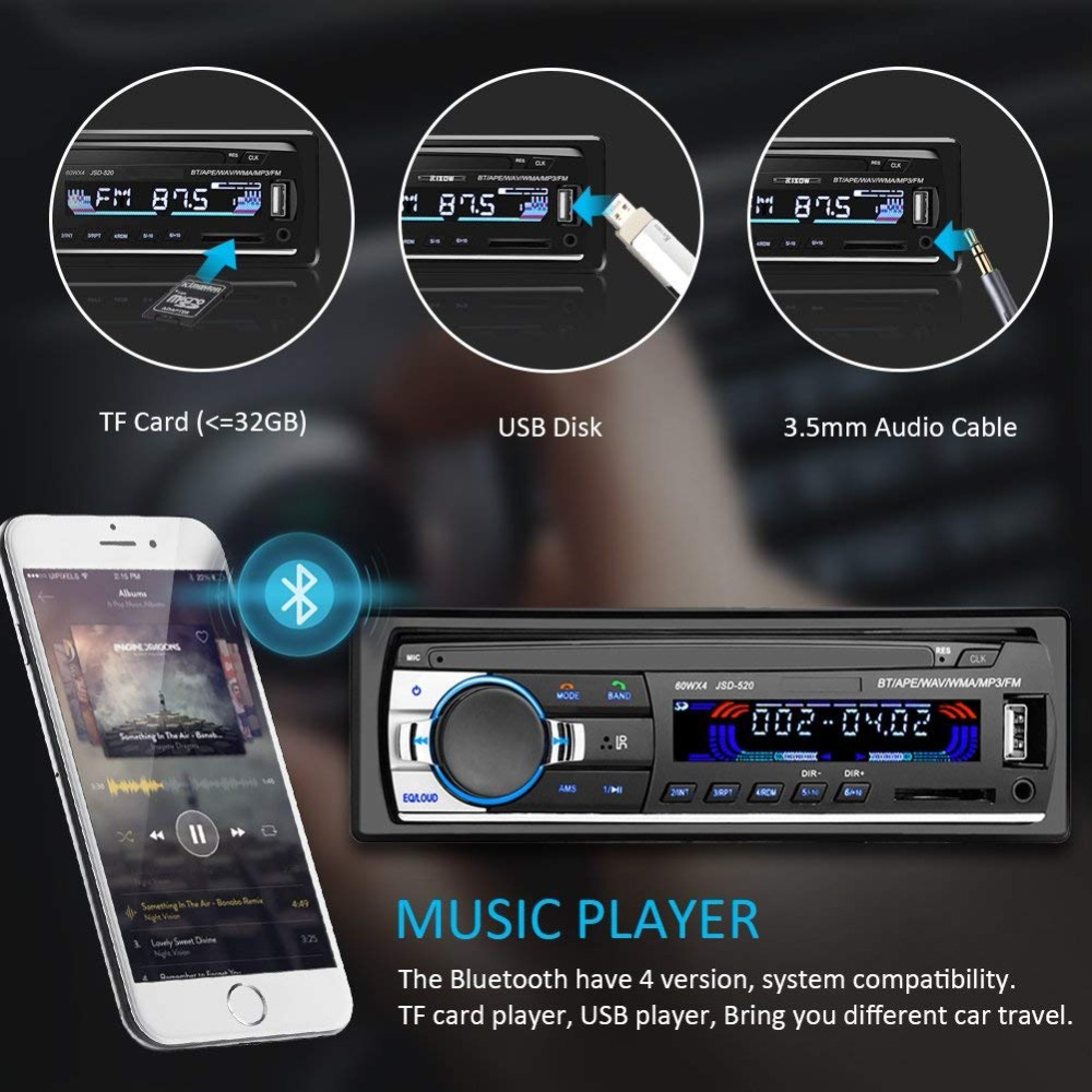 Image 5 - 1PC Autoradio Android bluetooth car stereo Multimidia Mp3 player usb 1 din car radio receiver Digital Auto subwoofer for pioneer-in Car Radios from Automobiles & Motorcycles