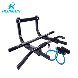 ALBREDA 250kg 38*1.6mm carbon steel pipe functional door pull up bar Indoor Chin-up bar home gym workout with resistance bands