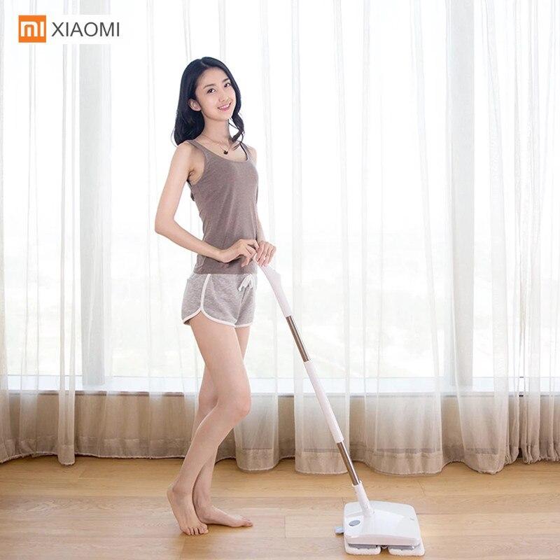 Xiaomi SWDK D260 беспроводной электрический Швабра пылесос Вибрационный отшелушиватель стеклоочистителей мокрой уборки робот с светодиодный под